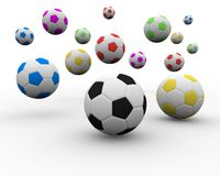 Multi color soccer ball. A multi color soccer ball Royalty Free Stock Image