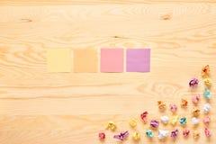 Multi color stick note bulb idea concept Royalty Free Stock Image