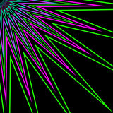 Multi-Color stråle för stjärnablomma royaltyfri illustrationer