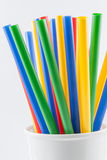 Multi Color straws Stock Photos