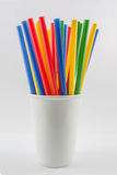 Multi Color straws Royalty Free Stock Image