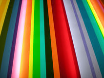 Multi Color Stripe Pattern Background. Photo of stylish bright color stripe pattern design on backlit plexiglas panel Royalty Free Stock Photography