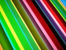 Multi Color Stripe Pattern Background. Photo of stylish bright color stripe pattern design on backlit plexiglas panel Stock Photography