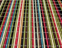 Multi color table mat Stock Photography