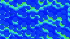 Technology hexagon pattern background stock video footage