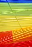 Multi color textile. Multi color fabric in a row Stock Photo
