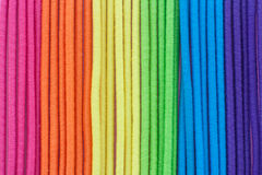 Multi color textile strips Royalty Free Stock Photos