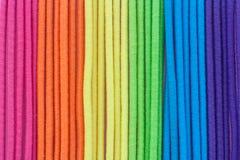 Multi color textile strips. Closeup photo of multi color textile strips Royalty Free Stock Photos