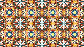 Multi color tile-mosaic with a traditional Moroccan pattern. royalty free stock photo