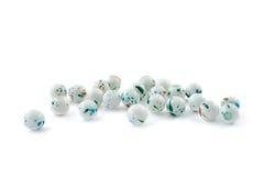 Multi color toned quartz gemstone isolated on white background close up Royalty Free Stock Photos