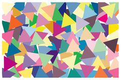 Multi color of triangle put overlap to pattern. colorful of geometry shape overlay to texture. Multi color of triangle put overlap to pattern. colorful of stock illustration