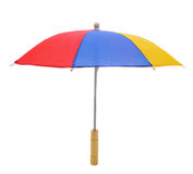 Multi-color umbrella over white Royalty Free Stock Photo