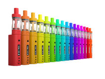 Multi-color Vaping battery mod Stock Image