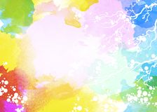Multi-color watercolor background Royalty Free Stock Images