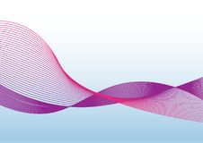 The multi color wave vector Abstract background Royalty Free Stock Images