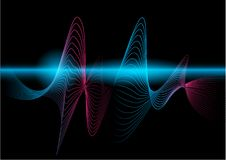 The multi color wave vector Abstract background Stock Photography