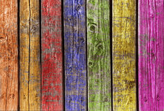 Multi color wood. Old and multi color wood textured Background Stock Photo