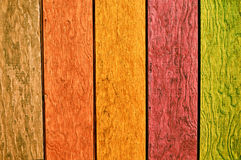 Multi Color Wood Background Royalty Free Stock Photos