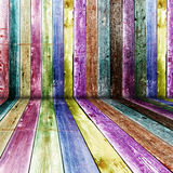 Multi Color wooden room Stock Photography