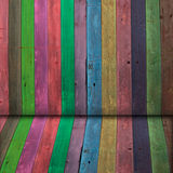 Multi Color wooden wall Royalty Free Stock Photography