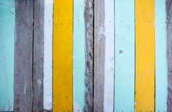 Multi coloreada de madera Fotografía de archivo