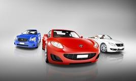 Multi coloreada de vehículos de lujo Imagen de archivo libre de regalías