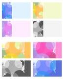 Multi-colorear-asunto-tarjeta-con--círculos Foto de archivo