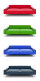 Multi-colored 3d Models Of Sofas Royalty Free Stock Image