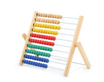 Multi-colored abacus for teaching children isolated Royalty Free Stock Images