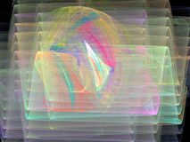 Multi-colored abstract curves transparent waves Royalty Free Stock Image