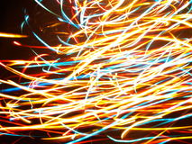 Multi colored abstract lights Stock Photos