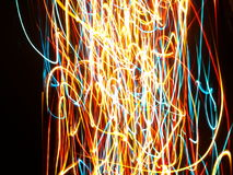 Multi colored abstract lights Stock Photography