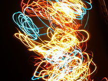 Multi colored abstract lights Stock Photo