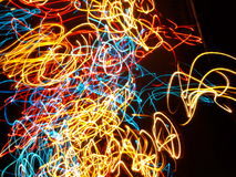 Multi colored abstract lights Stock Images