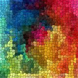 Multi colored abstract marble irregular plastic stony mosaic pattern background  Stock Photos