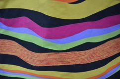 Colored Fabric Abstract in Portland, Oregon. This is a multi-colored abstract of unknown material at the downtown Saturday Market in Portland, Oregon Stock Photography