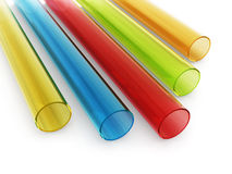 Multi colored acrylic tubes Stock Images