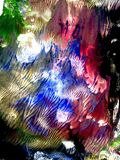 Multi Colored Acrylics Texture Stock Photography
