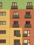 Multi-colored Apartment Building. Windows of Multi-colored Apartment Building royalty free stock photo