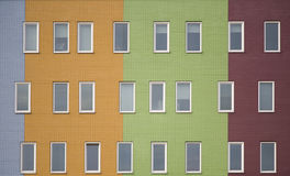 Multi colored apartments 3 Stock Images