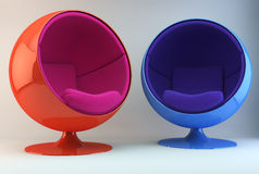 Multi Colored Armchairs Stock Images
