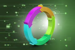 Multi colored arrow circle Stock Photo