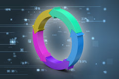 Multi colored arrow circle Stock Photography