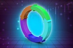 Multi colored arrow circle Stock Image