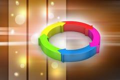 Multi colored arrow circle Stock Photo