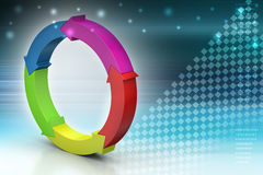 Multi colored arrow circle Stock Photos