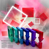 Multi colored arrow square Royalty Free Stock Image