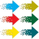 Multi-colored arrows to indicate. Stock Photography