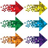 Multi-colored arrows to indicate. Royalty Free Stock Photography