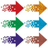 Multi-colored arrows to indicate. Royalty Free Stock Photos